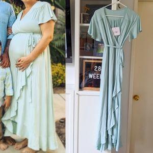 NWT Mint maxi maternity dress